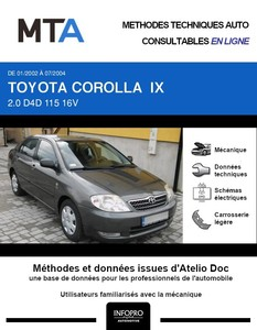 MTA Toyota Corolla IX  berline phase 1