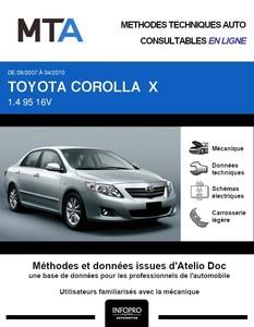 MTA Toyota Corolla X  berline phase 1
