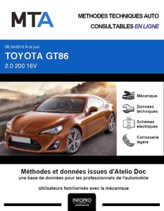 MTA Toyota GT86 coupé phase 1