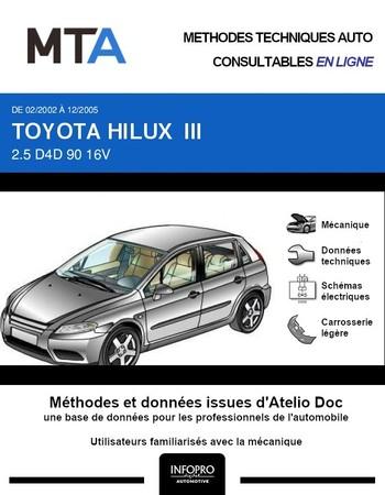 MTA Toyota Hilux VI pick-up phase 2