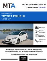 MTA Toyota Prius III phase 1