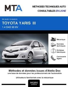MTA Toyota Yaris III 3 portes phase 1