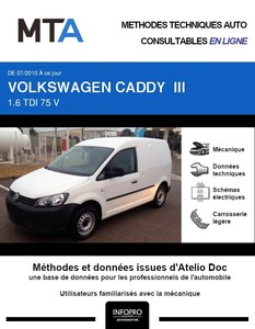 MTA Volkswagen Caddy III fourgon 3p phase 2