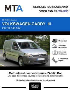 MTA Volkswagen Caddy III fourgon 4p phase 2