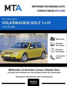 MTA Volkswagen Golf IV 3 portes
