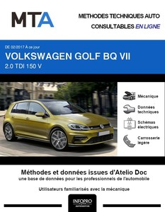 MTA Volkswagen Golf VII 5 portes phase 2