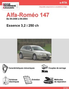 Revue Technique Alfa Romeo 147 essence