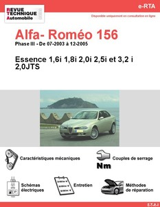 Revue Technique Alfa Romeo 156 essence