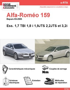 Revue Technique Alfa Romeo 159 essence