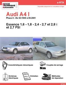 Revue Technique Audi A4 B5 essence