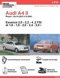 Revue Technique Audi A4 B6 essence