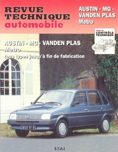 Revue Technique Austin MG Metro et Metro turbo