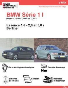 Revue Technique BMW Série 1 E81-E87 essence
