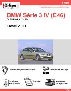 Revue Technique BMW Série 3 E46 diesel