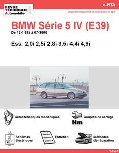 Revue Technique BMW Série 5 E39 essence