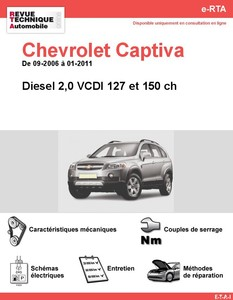 Revue Technique Chevrolet Captiva diesel