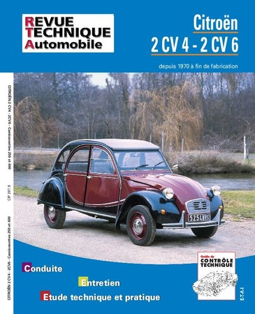 Revue Technique Citroën 2CV 4 et 2CV 6 depuis 1970