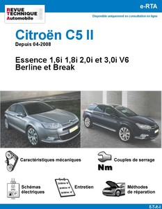 Revue Technique Citroën C5 II essence