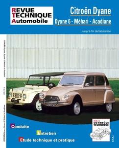 Revue Technique Citroën Dyane, Acadiane et Méhari