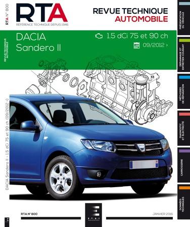 Revue Technique Dacia Sandero II phase 1