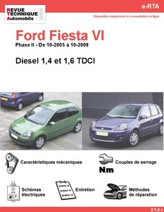 Revue Technique Ford Fiesta V diesel
