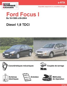 Revue Technique Ford Focus I diesel