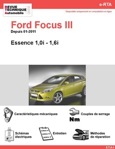 Revue Technique Ford Focus III essence