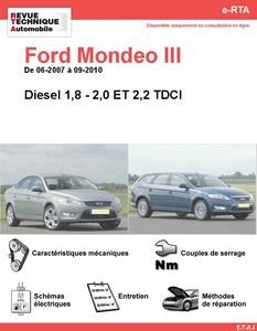 Revue Technique Ford Mondeo III diesel