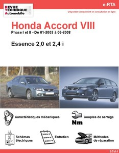 Revue Technique Honda Accord VII essence