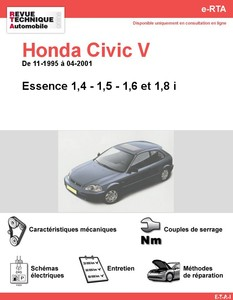 Revue Technique Honda Civic VI essence