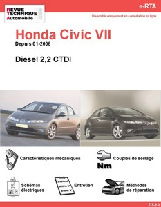 Revue Technique Honda Civic VIII diesel