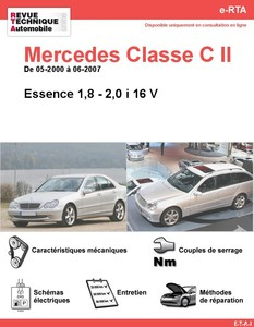 Revue Technique Mercedes Classe C W203 essence