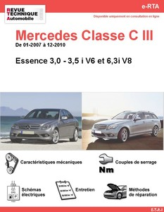 Revue Technique Mercedes Classe C W204 essence V6-V8