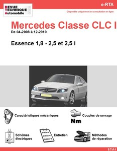 Revue Technique Mercedes Classe CLC W203 essence