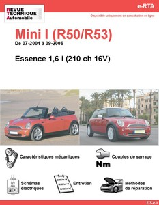 Revue Technique Mini Mini I Phase 2 essence