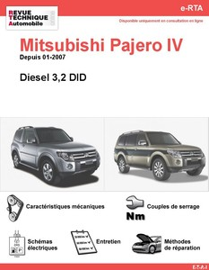 Revue Technique Mitsubishi Pajero IV diesel