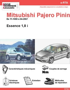 Revue Technique Mitsubishi Pajero Pinin essence
