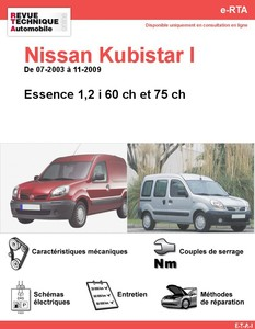 Revue Technique Nissan Kubistar essence