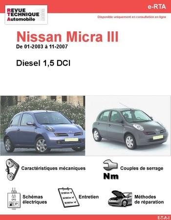 Revue Technique Nissan Micra III diesel