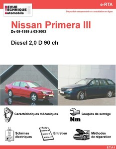 Revue Technique Nissan Primera II diesel