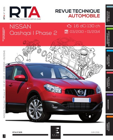 Revue Technique Nissan Qashqai I phase 2 dCi 130