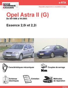 Revue Technique Opel Astra II (G) essence