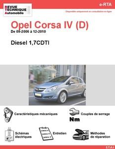 Revue Technique Opel Corsa D diesel