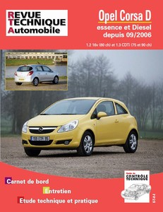 Revue Technique Opel Corsa D phase 1