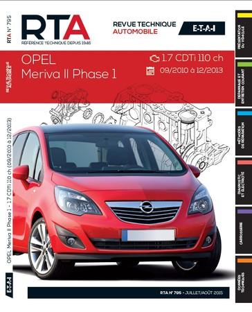 Revue Technique Opel Meriva B