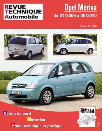 Revue Technique Opel Meriva I phase 2
