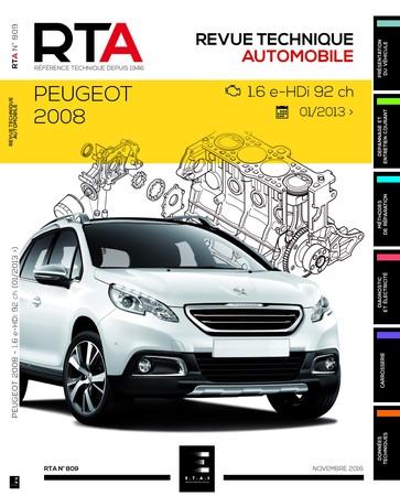 Revue Technique Peugeot 2008 I phase 1 e-HDi