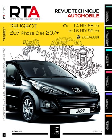Revue Technique Peugeot 207 phase 2 et 207+