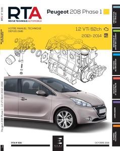 Revue Technique Peugeot 208 I 3p - 5p phase 1 essence