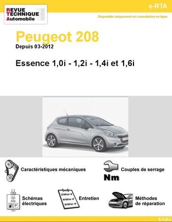 Revue Technique Peugeot 208 essence
